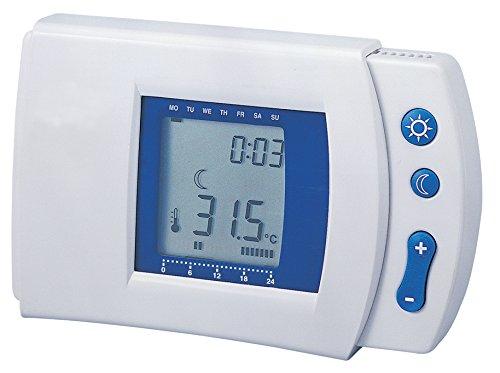 Electraline 59215 Cronotermostato, Funzione Caldo Freddo, Digitale Avanzato, Bianco