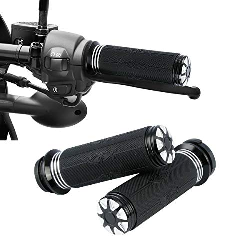 TCMT 1' CNC Electronic Throttle Control Handlebar Grips Fit For Harley Touring Road Glide Road King Street Glide Tri Glide Electra Glide 2008-2020 Dyna FXDLS 2016-2017 Softail 2016-2020