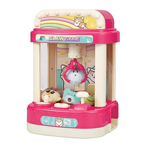 Hrsptudorc NiiOs Doll Catcher Claw Machine Moneda Candy Grabber Juego MúSica Reloj Despertador Arcade Machine Regalo para NiiOs