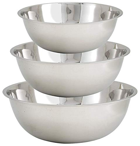 Tiger Chef Large Mixing Bowls Set Stainless Steel 13, 16, and 20 Quart Multi-Purpose Commercial Cyber Monday Deals Week (Set of 3)