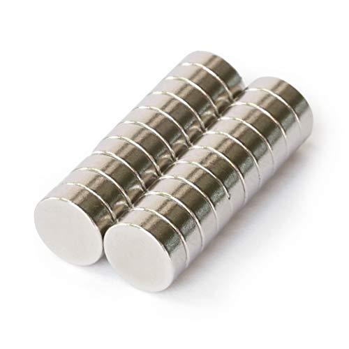 OfficeTree 20 Magnete 8 mm rund - Magnete extra stark - Magnet rund für Whiteboard Pinnwand Kühlschrank oder Metall Oberflächen