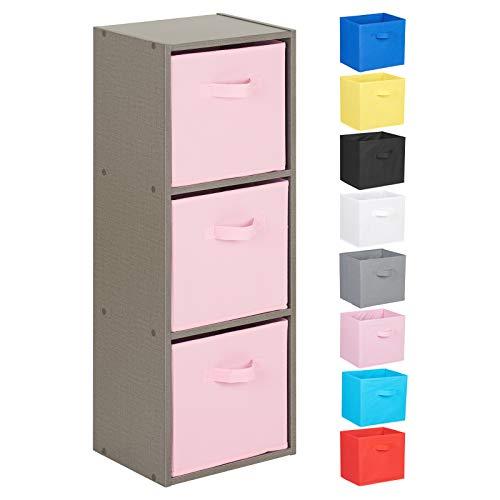 Hartleys Unité Cube Gris a 3 Niveaux - Choix de Boites de Rangement