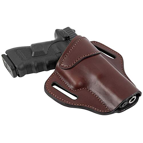 Relentless Tactical Ultimate Leather Holster 2 Slot OWB | Made in USA | for Glock 17 19 22 26 32 33 / S&W M&P Shield / Springfield XD & XDS / Plus All Similar Sized Handguns