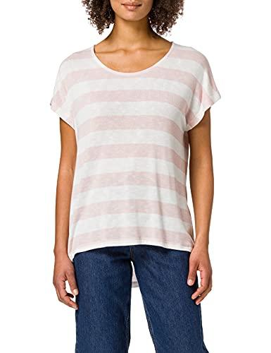 Vero Moda Vmwide Stripe S/l Top Noos Camiseta, Rosa Sepia, XL para Mujer