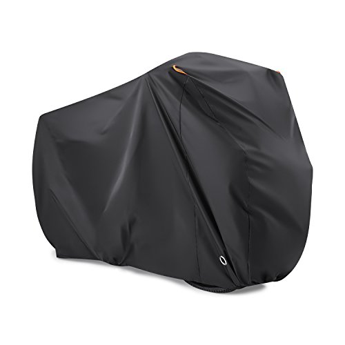BEEWAY Bike Cover for 2 Bikes, 190T Nylon Waterproof Bicycle Cover Anti Dust Rain UV Protection for Mountain Bike/Road Bike with Lock-holes Storage Bag