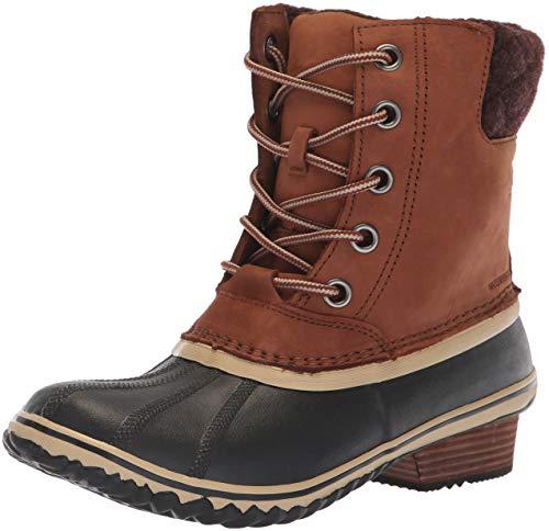 SOREL - Women's Slimpack Lace II Waterproof Insulated Boot, Burro/Cattail, 8 M US