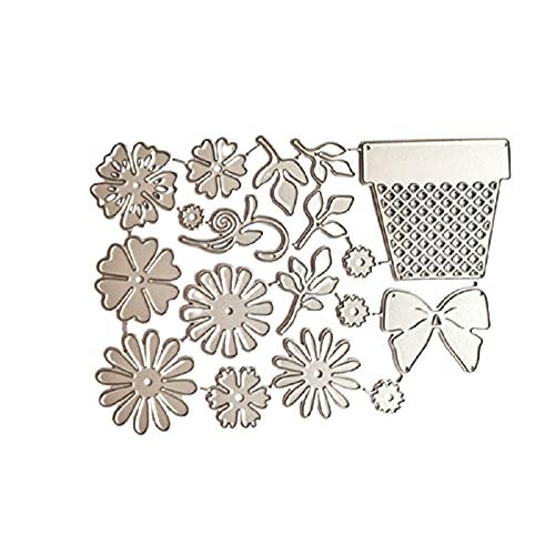 Crazyfly - Fustelle in metallo, motivo floreale, creativo, 3D, per scrapbooking e goffratura