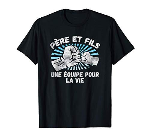 Père et fils Une équipe pour la vie Drôle de cadeau T-Shirt