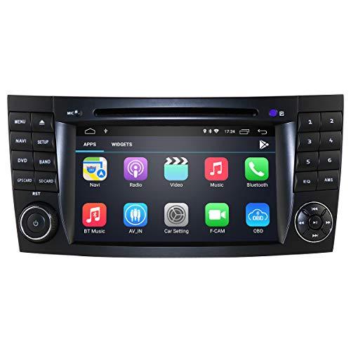 Android 10 Car Audio Player mit 7 Zoll Touchscreen für Benz E W211 (2002-2009) / G W463 (2001-2008) / CLK W209 (2005-2006) / CLS W219 (2001-2011) Unterstützung Mirror-Link Bluetooth WiFi 4G SWC GPS