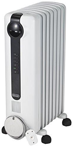 デロンギ(DeLonghi) オイルヒーター ホワイトL字型フラットフィン8枚 [8~10畳用] JRE0812