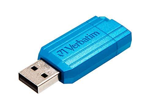 Verbatim Store 'N' Go Pinstripe - Memoria USB 2.0 de 16 GB (10 MB/s), Color Azul