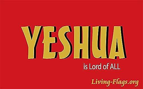 YESHUA - Lord of All Worship Flag XL-Größe (64 x40 ) - Telescopic pÃle - (set - 1 flag)