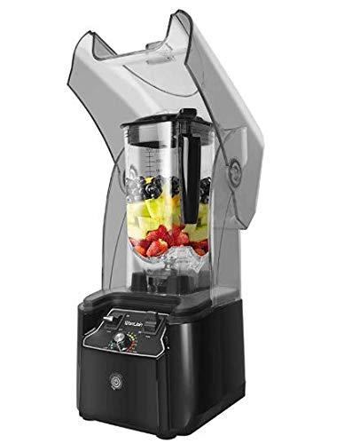 TOPQSC Smoothie-Maschine, kommerzieller Milchteeladen, Teebrühmaschine Milchabdeckungsmaschine Rasierter Smoothie-Glatt-Eisbrecher, mit Abdeckung Silent Broken Wall-Kochmaschine
