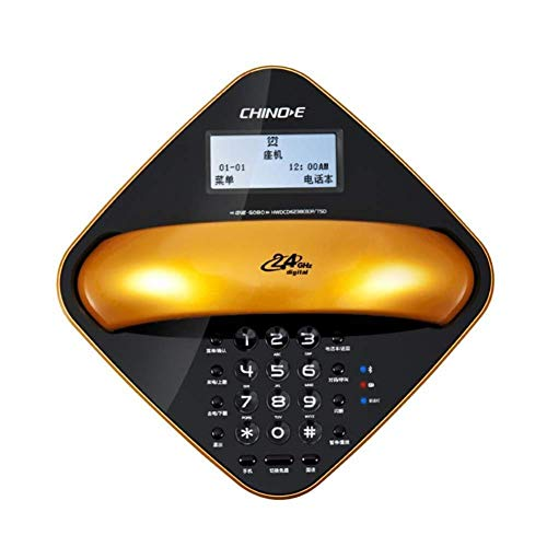 DIHAO Teléfono Inalámbrico Teléfono Oficina Hogar Bluetooth Fijo Fijo Manos Inalámbricas Marcador de Escritorio Clásico Teléfono Fijo