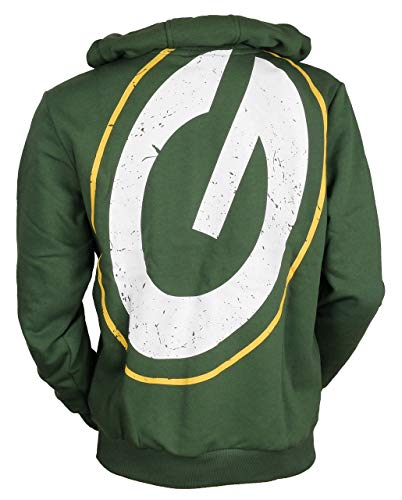 New Era Green Bay Packers Hoody - Big Logo Back - Green - XXL