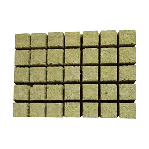 Rockwool Blatt Block Rockwool Starter Plugs Rockwool Steinwolle Starter Cubes Für Die Vermehrung Klonen Seed Raising Hydroponic 36 36 40mm / 1.42 1.42 1.57in 50Pcs