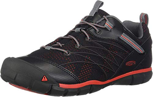 KEEN Chandler CNX Casual Shoe Hiking, Raven/Fiery Red, 1 M US