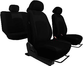 Sitzbezüge Design Schwarz geeignet für Toyota Yaris universal Groß Auto Schonbezüge   EIN Set