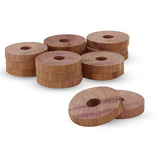 Blocs anti-mites en bois de cèdre | Lutte antiparasitaire | Piège à humidité | 30 Blocs répulsifs 100% naturels | Trous de suspension | Armoires et tiroirs | Pukkr