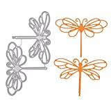 YeulionCraft Metal Cutting Dies Stencils for DIY Scrapbooking Decorative Crafts Embossing Paper Cards Making Box Decor, Dragonfly