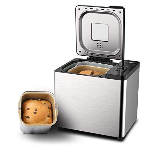 LiYuJ Panificadora de Pan - Panificadora Programable 550w - Panificadora de Pan Sin Gluten (21 Programas Automáticos, Dispensador Inteligente, Temporizador Gigital 15H)