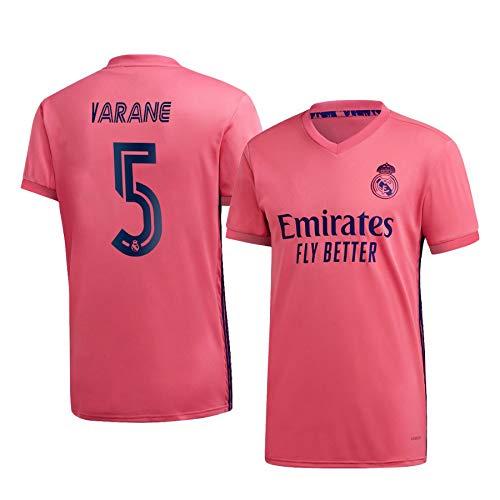F-shop Raphaël Varane Real Madrid Pink,Maillot Raphaël Varane Trikot 2020/21 für Herren & Jungen(Pink,16)