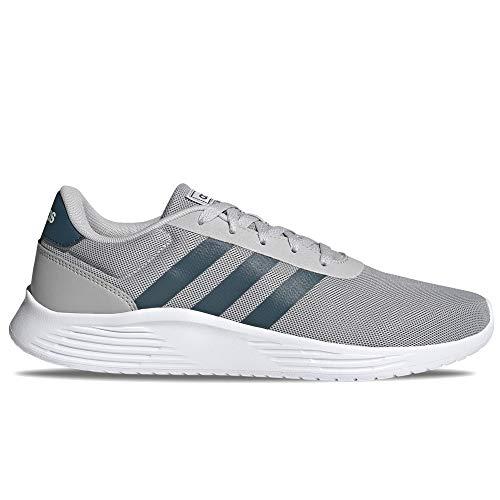 adidas Lite Racer 2.0, Zapatillas para Correr Hombre, Grey Two Wild Teal FTWR White, 48 EU