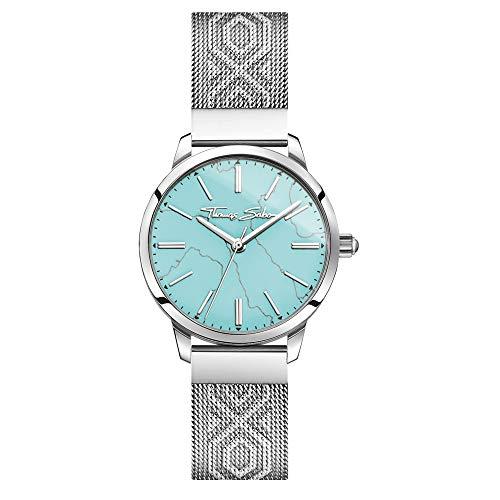 Thomas Sabo Reloj Analógico para Mujer de Cuarzo con Correa en Acero Inoxidable WA0343-201-215-33 mm