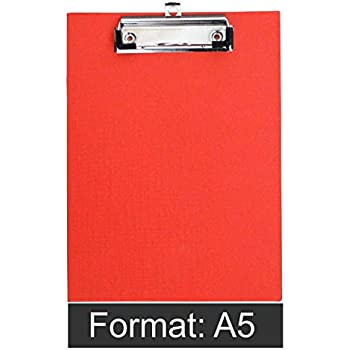D.RECT 009566 Klemmbrettmappe A5 aus Kunststoff rot