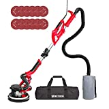 YATTICH Drywall Sander, 750W Electric Sander with 12 Pcs Sanding discs, 7 Variable Speed 800-1750 RPM Wall Sander with Extendable Handle, LED Light, Long Dust Hose, Storage Bag and Work Glove, YT-916