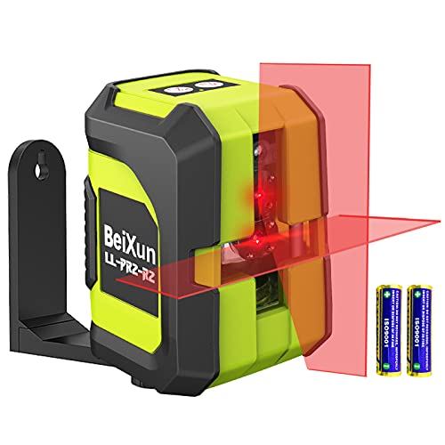 Livella Laser, BeiXun 15M Croce Livella Laser Autolivellante con Modulo Laser Doppio, 360° Rotante, IP54 Antipolvere e Impermeabile, Include Base Magnetica/Batteria