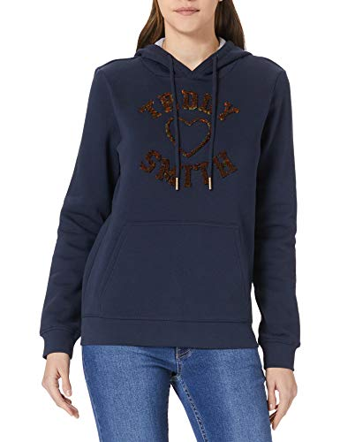 Teddy Smith SOFRENCH Color Sweatshirt, Total Navy, XS Womens