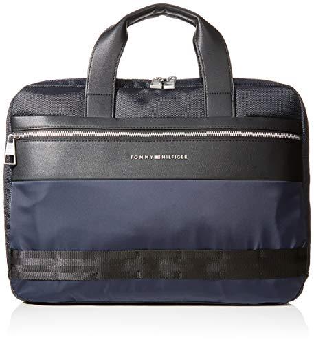 Tommy Hilfiger Nylon Mix Slim Computer Bag Mens Wallet Blue Tommy Navy 1x1x1 cm W x H L