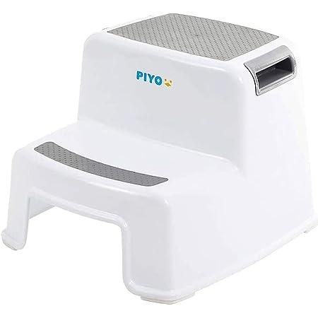 ピヨ(PIYO) 踏み台 子供 子ども 2段 二段 ステップ台 幼児 こども トイレ おしゃれ (グレー)