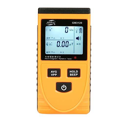 Tester rayonnement, dosimètre mètres détecteur de rayonnement électromagnétique LCD Compteur numérique testeur EMF Compteur numérique,Jaune