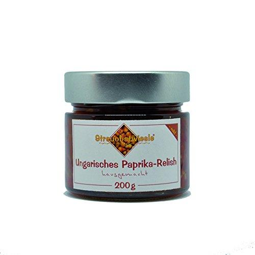Streuobstwiesle Ungarisches Paprika Relish - 200 g Herzhafte, aromatische Sauce zum Grillen, zum Fondue, zum Raclette, zum Kase, zum Reis... … …