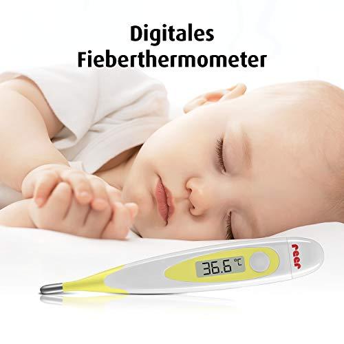 Reer 9844 Digitales Fieberthermometer mit flexibler Messspitze, gelb