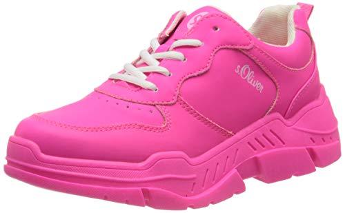 s.Oliver Damen 5-5-23677-24 Sneaker, Pink (Fuxia 532), 39