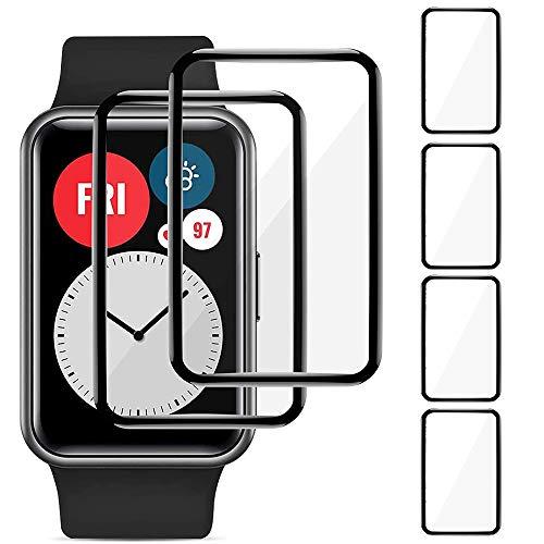 Brifu Film protettivo Compatibile con Huawei Watch Fit HONOR Watch ES, [antigraffio], [senza bolle], [applicazione facile], [Pellicola protettiva morbida],[Copertura completa]4 pezzi