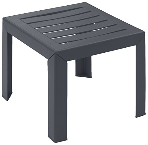 GROSFILLEX Miami Table, Anthracite, 40 x 40 cm