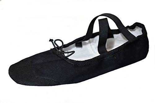 METEOR Baletowe dla dorosłych, uniseks BALETKI SKÓRZANE CZARNE #45, wielokolorowe (Black 001), EU