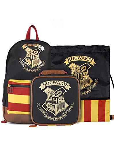 Harry Potter Hogwarts Mochila grande, bolsa de almuerzo y entrenador Bundle
