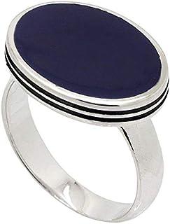 خاتم من الفضة الاسترليني ملاكي مع حجر ازرق للرجال من اتيك