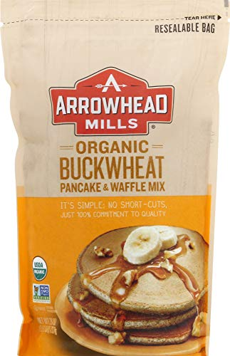 Arrowhead Mills Organic Buckwheat Pancake & Waffle Mix, 26 Ounce (Pack of 6)