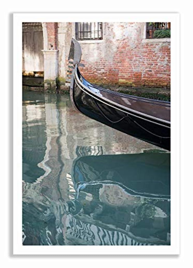 Gondole de Venice, Natural Solid Oak Frame with Mount, Multicolored, 30x40 bqf2784888