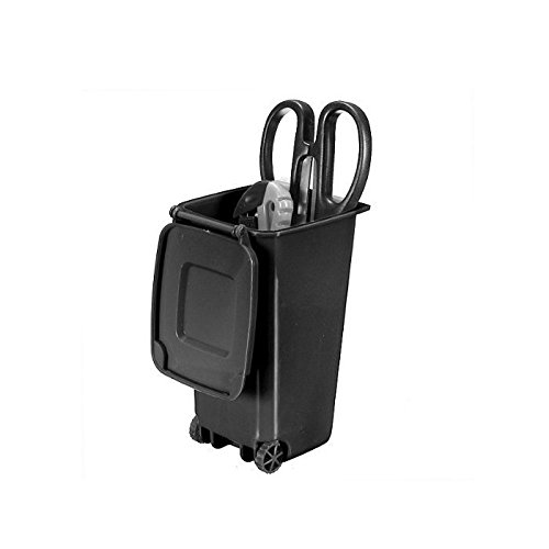 Water & Wood Trash Can and Recycling Mini Storage Bin Pen Holder (Black) by...