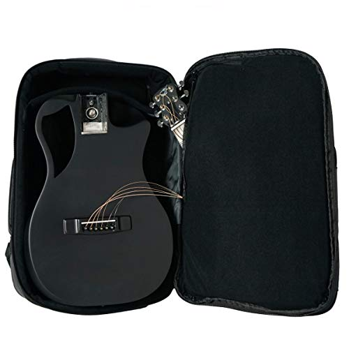 Carbon Fiber Collapsible Acoustic Travel Guitar with Pickup and Custom Travel Case - OF660M Matte Black