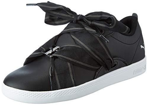 Puma Smash WNS Buckle, Baskets Basses Femme, Noir (Puma Black-Puma White), 37 EU