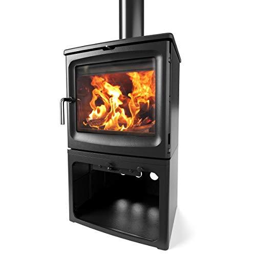 Saltfire Bignut 5 Tall Wood Burner Stove 5kW DEFRA Approved EcoDesign Clean Burn High Efficiency...