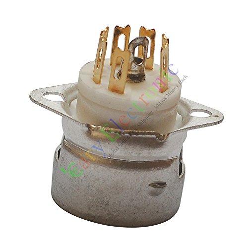 cayyi 47-polig gold Keramik Vakuum Röhrenfassungen Ventil für aee91EC92Audio Verstärker